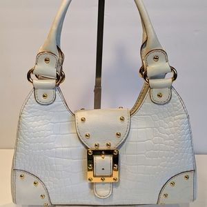 Micheal Kors White/Grey Leather Bag